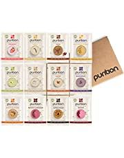Purition Vegan Discovery Box | Premium Dairy Free High Protein Powder for Keto Shakes and Smoothies with Only Natural Ingredients for Weight Loss | 12 x 40g Servings