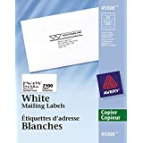 """Avery Address Labels for Copiers,  2-13/16"""" x 1-1/2"""", White, Rectangle, 2100 Labels, Permanent (45008) Made in Canada"""