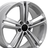 #8: 18x8 Wheel Fits Volkswagen - VW CC Style Silver Rim, Hollander 69924