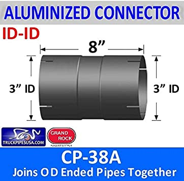 "3/"" ID to 3/"" ID Exhaust Connector Coupler"