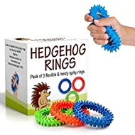 Sensory Ring and Fidget Toy 3 Pack | Soft, Flexible Ring and Rubber Spikes | Helps Reduce Stress and Anxiety| Promotes Focus and Clarity | Children, Youth, Adults Sensory Toys