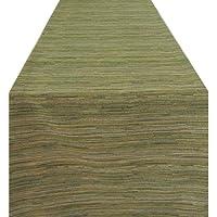 Wildflower Linen Tuscan 90x18 Runner; Moss