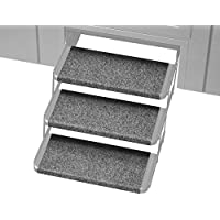 Prest-O-Fit 2-4064 Castle Gray 18 Wide Outrigger RV Step Rug, 3 Pack, 3