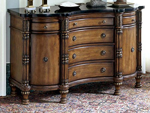 Sideboard/Buffet w 6 Drawers & Marble Top 16330 (Marble Top Buffet Sideboard)