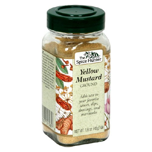 The Spice Hunter Ground Yellow Mustard, 1.6-Ounce Jar (Pack of 6)