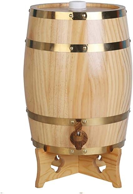FEIFEI Dispensador de cubo forrado Barril de roble de madera ...