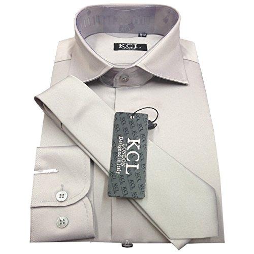 s Camisa elegante de de vestir y larga Ael brillante liso corbata con ZPwCqnAP