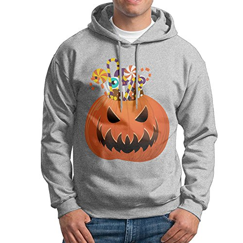 (ACFUN Men's Halloween Pumpkin Hoodie Size XL)