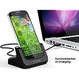 KIDIGI Samsung Galaxy S4 USBクレードル 充電同期 卓上 スタンド ギャラクシー S4用 Docomo SC-04E 充電器 充電スタンド(ブラック)