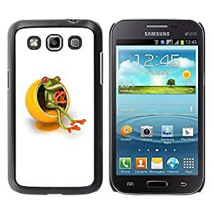 Be Good Phone Accessory // Dura Cáscara cubierta Protectora Caso Carcasa Funda de Protección para Samsung Galaxy Win I8550 I8552 Grand Quattro // Yellow Furniture Thinker Frog White