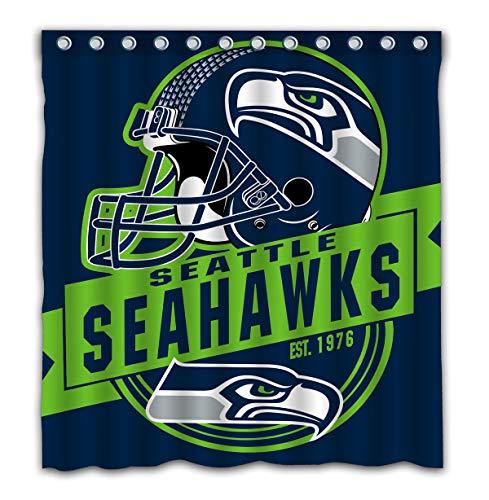 (Felikey Custom Seattle Seahawks Waterproof Shower Curtain Colorful Bathroom Decor Size 66x72 Inches)