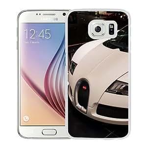 NEW Unique Custom Designed Samsung Galaxy S6 Phone Case With White Bugatti Veyron_White Phone Case