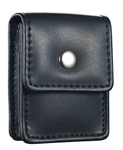 (Genuine Black Leather Belted Square Lighter Pouch)