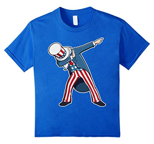 4th Of July Costumes Ideas (unisex-child Dabbing Uncle Sam Shirt Funny 4th of July T-shirt 12 Royal Blue)