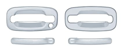 For Chevy TAHOE 1995 1996 1997 1998 1999 Chrome 4 Door Handle Covers W// Keyhole