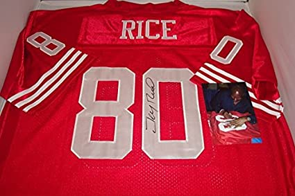 new concept 6b730 179d7 Jerry Rice Signed San Francisco 49ers Jersey! Hall of Fame ...