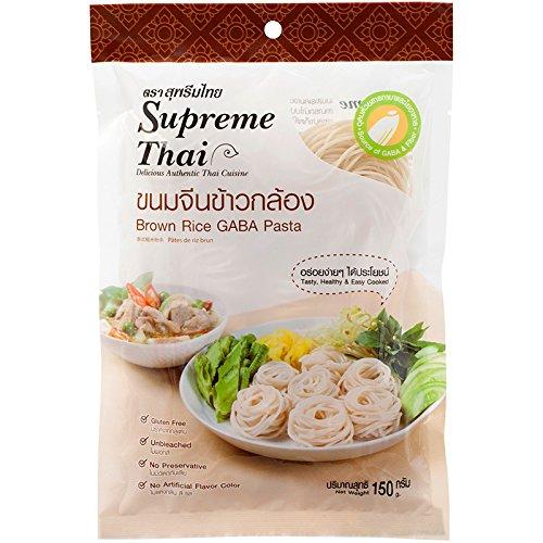 Supreme Thai, Brown Rice Gaba Pasta, net weight 150 g (Pack of 2 pieces) // Beststore by KK8 ()