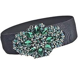 Rhinestone Crystal Beaded Flower Girdle Belt