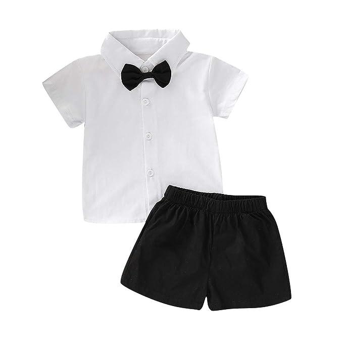 Amazon.com: Trajes de caballero para bebé y niño, camisa con ...