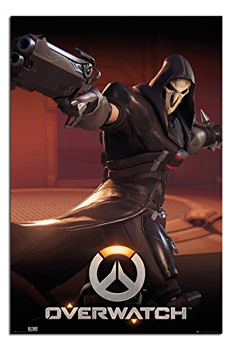 Overwatch Reaper Poster Satin Matt Laminated