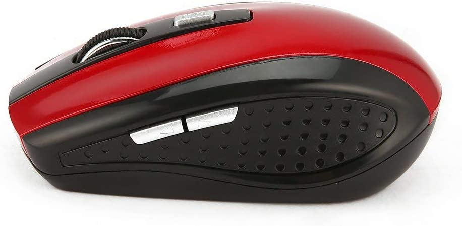 2.4Ghz Wireless Mouse Portable Optical Gaming Mouse Mice For Laptop Computer Red