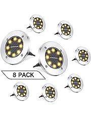 Joomer 8/12 Packs Solar Ground Lights