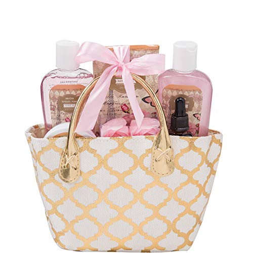 Draizee Spa Luxurious Home Relaxation Lovely Fragrance Gift Bag for Woman (British Rose, 6 Pieces) - #1 Best Mothers Day Gift for Mom, New Mother