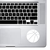 StickAny Palm Series Basketball Simple Sticker for Macbook Pro, Chromebook, and Laptops (White)