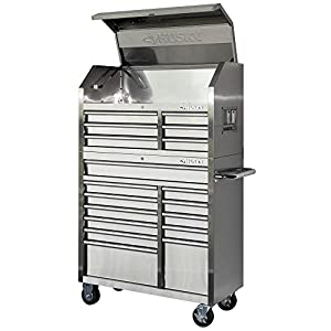 Amazon Com 40 In 18 Drawer Stainless Steel Tool Chest