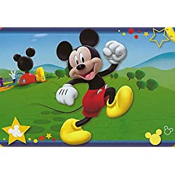 "Large Disney 54""x80"" Extra Soft Non-Slip Back Area Rug (Mickey Mouse Clubhouse)"