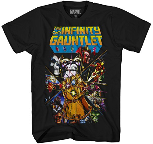Marvel Thanos Avengers Infinity War Gauntlet Hulk Spider-Man Iron Man Strange Adult Men's Graphic Tee T-Shirt Apparel (Small)