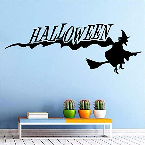 Gxinyanlong Wall Sticker Halloween Halloween Witch Broom Living