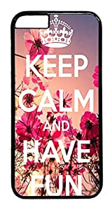 "ICORER Design iPhone 6 Case, Keep Calm And Have Fun Hard Case Cover for Apple iPhone 6 4.7"" Polycarbonate Black"