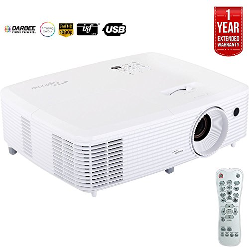 Optoma Ultra Home Cinema Projector w/DarbeeVision Enhanced Tech HD29Darbee - (Certified Refurbished) + 1 Year Extended Warranty