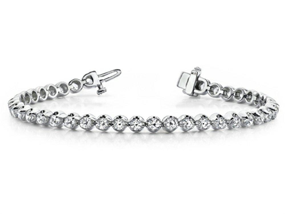 IGI Certified 14kt Gold Round Diamonds Tennis Bracelet (1.0 cttw, H-I Color, SI2-I1 clarity) 7 inch