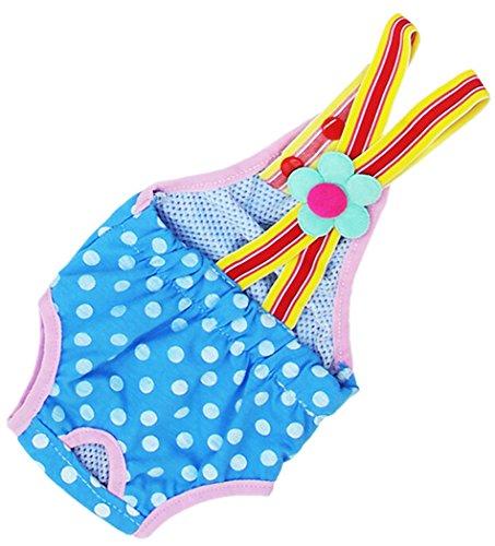 Legendog Dog Diapers Polka Dots Cotton Reusable Washable Female Dog Suspender Sanitary Pants Diaper