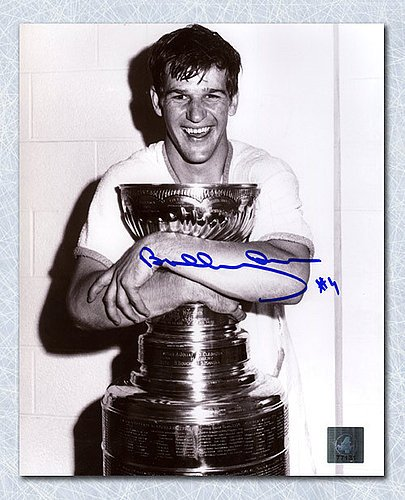 Bobby Orr Boston Bruins Autographed Stanley Cup Champion 11x14 Photo: GNR COA - Signed Hockey Pictures