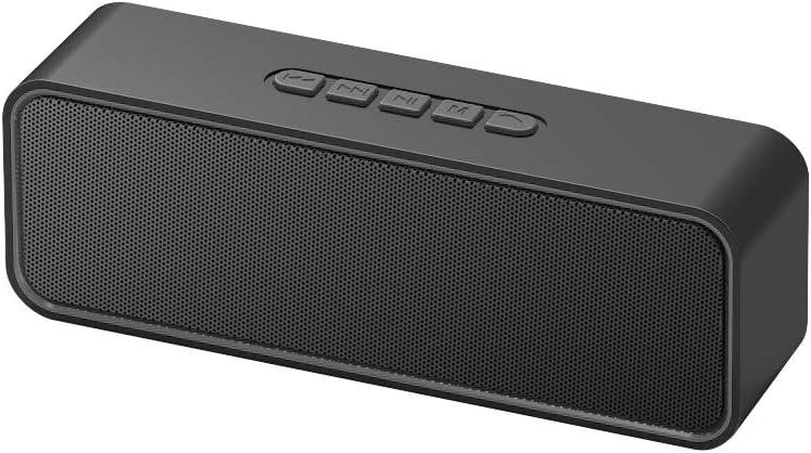 Altavoz Bluetooth portátil Sonkir, Altavoz inalámbrico Bluetooth 5.0 TWS con Graves estéreo 3D Hi-Fi, batería incorporada de 1500 mAh, Tiempo de reproducción 12H (Negro)