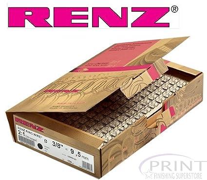 Renz One Pitch Drahtkamm-Bindeelemente in 2:1 Teilung, 23 Schlaufen, Durchmesser 22.0 mm, 7/8 Zoll, silber/matt Chr. Renz GmbH 322200923