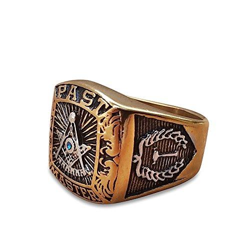 Free Mason Masonic Ring Past Master Rings Size 8-13 - Master Past Steel