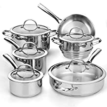 Cooks Standard NC-391 11-Piece Classic Stainless-Steel Cookware Set