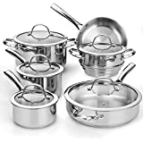 Cooks Standard 00391 11-Piece Classic Stainless-Steel Cookware Set
