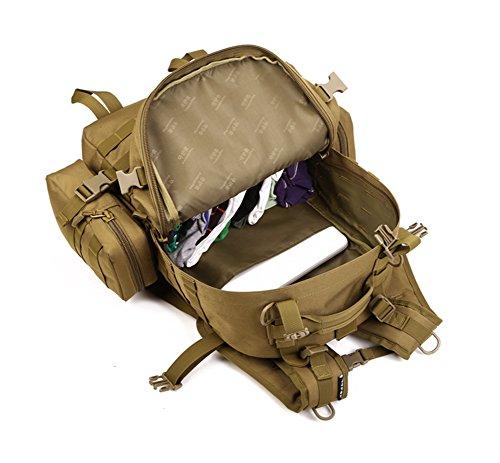 Genda 2Archer Protector Plus Deportes al aire libre militar Mochilas Asalto Táctico Mochila de excursión que acampa Trekking Bolsa (ACU Digital) marrón