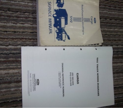 1992 Ford Cargo Truck Shop Repair Service Manual Set Body Chassis Electrical Engine Service Manual And The Wiring Diagrams Manual Ford Amazon Com Books