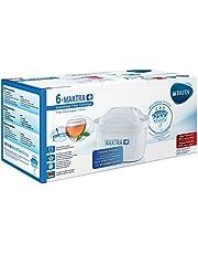 BRITA MAXTRA+ – 6 filtros para el agua – Cartuchos de filtrado para el agua – Recambios compatibles con jarras BRITA que reducen la cal y el cloro