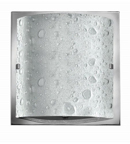 Bathroom Vanity 1 Light With Chrome Etched Bubble Art Metal LCP-60 9 inch 7 (Chrome Daphne Art)
