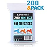 """Mini Size Hot Glue Sticks, 200 Pack, 6"""" Length and 0.27"""" Diameter, High Viscosity and Transparent, Use with All Temperature Mini Glue Guns, Ideal for Art Craft, Basic Repairs and DIYs"""