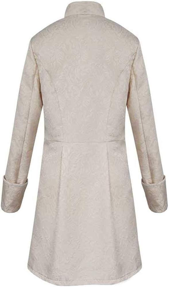 Lannister Steampunk Mens Coat Punk Long Clothing Sleeve Coats Festive Retro Jacket Mid Length Medieval Costume Cosplay Uniform for Men Slim Fit Winter Trench Coat Parkajacke Overcoat