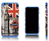 Xcessor London Two Part Protective Case with Soft Inner Silicone Layer and Hard Plastic Shell for Apple iPhone 6 Plus. Multi-coloured / Blue