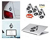 PACK of 3 BB-8 Star Wars Sticker Decal for Macbook, Laptop ,Car Window, Laptop, Motorcycle, Walls, Mirror and More. MTS033